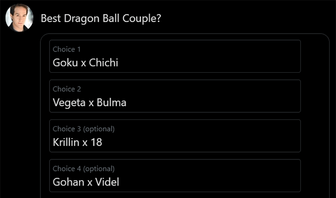 best dragon ball couple poll choices by derek padula