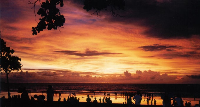 kuta beach bali sunset
